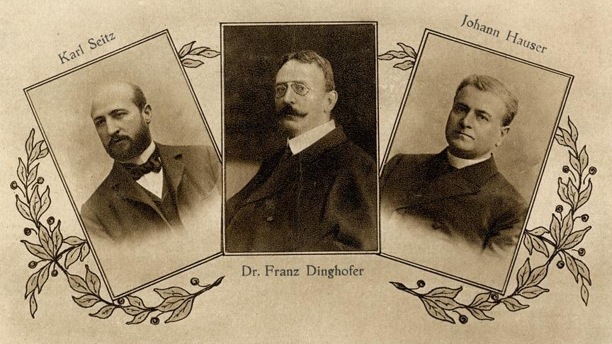 """""""Baumeister der Republik: Franz Dinghofer"""": Karl Seitz, Dr. Franz Dinghofer, Johann Hauser"""
